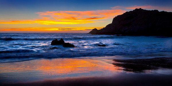 Sunset at McClures Beach, Point Reyes, CA.